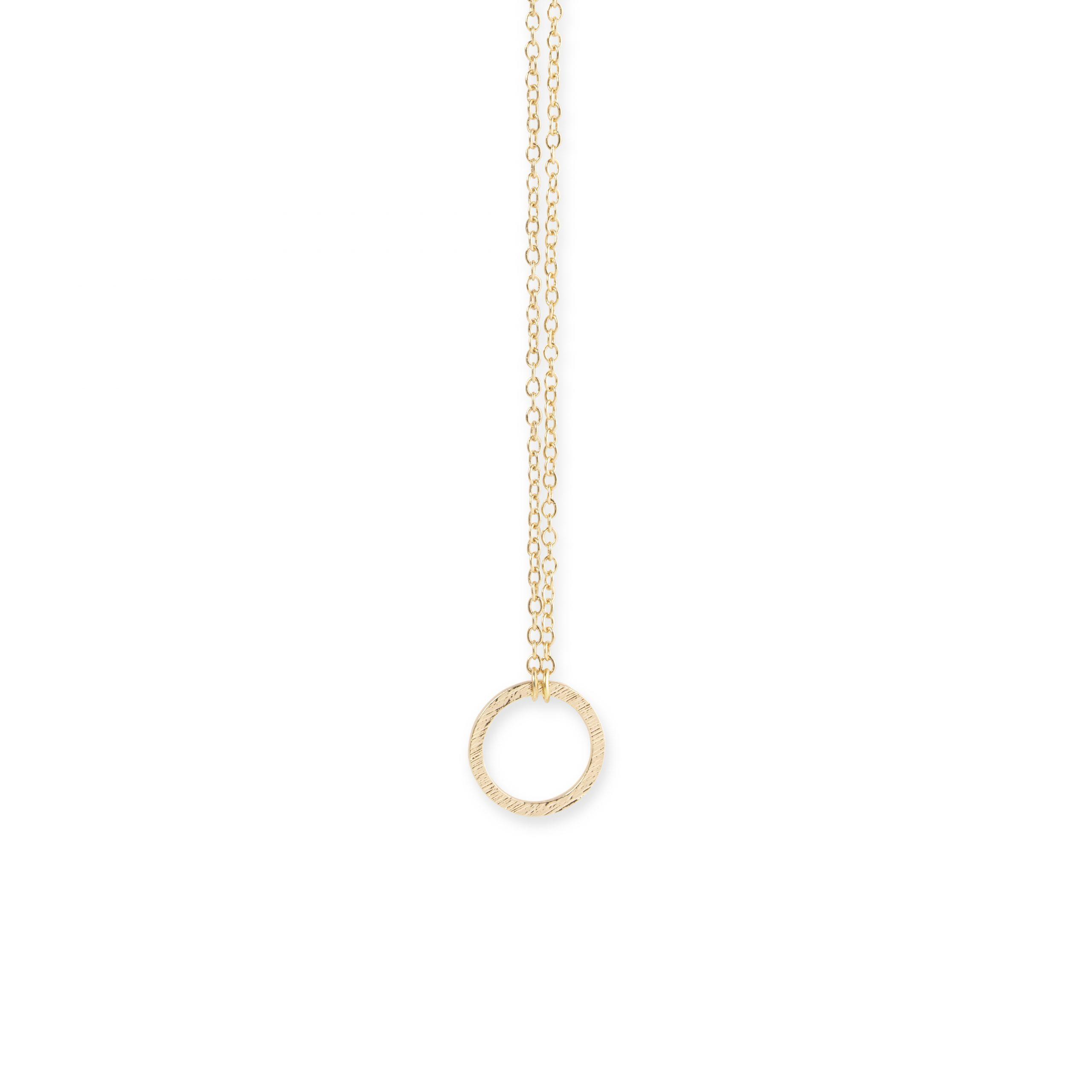 Kreis Kette als Circle of Life, runder Anhänger, minimalistisch
